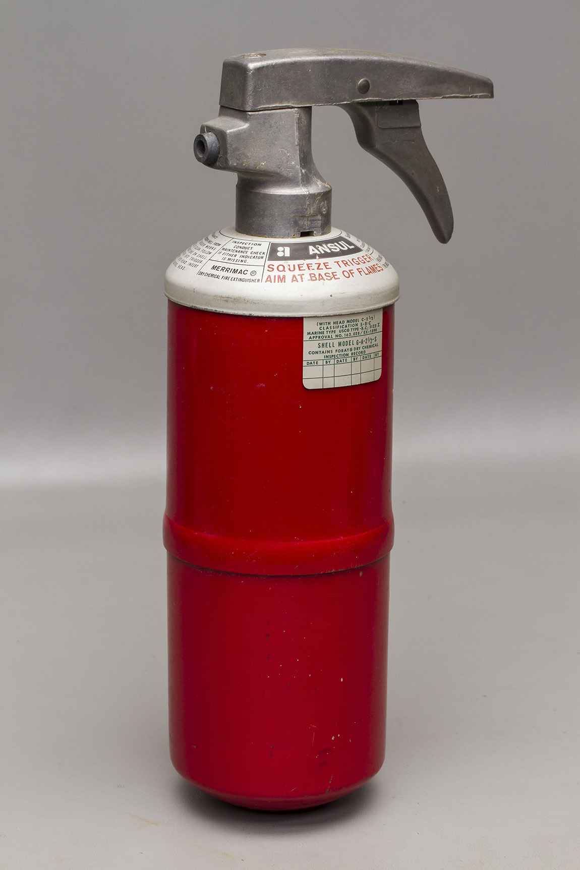 Details about Vintage Ansul Model G-A-2 1/2-S Marine Type Dry Chemical Fire  Extinguisher